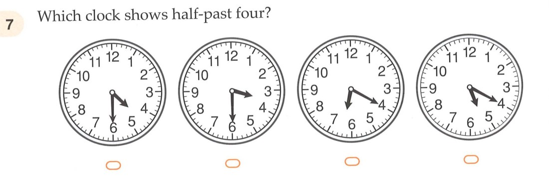 Time - Which one shows half past four